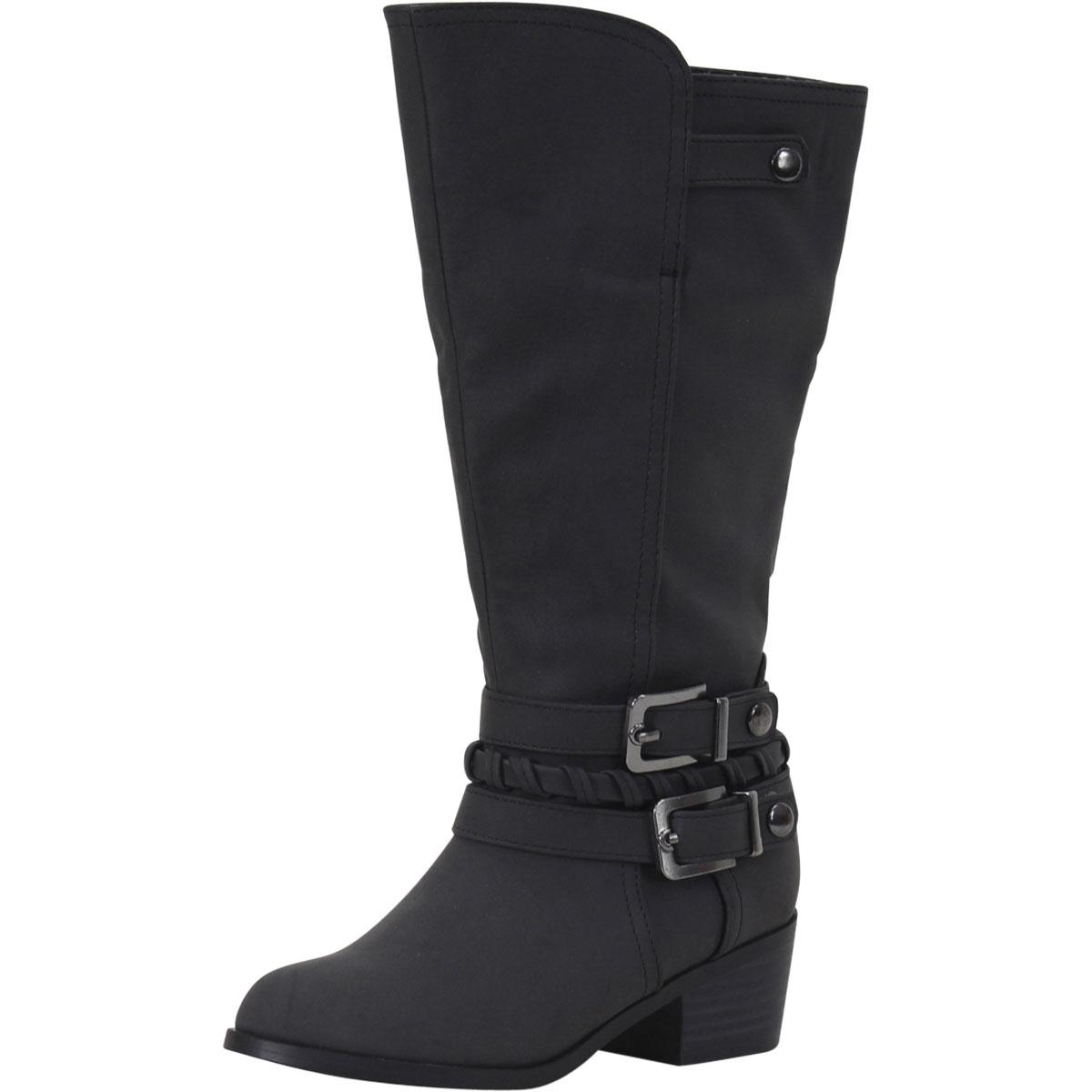 Image of Sugar Little/Big Girl's Brownie Tall Riding Boots Shoes - Black - 4 M US Big Kid