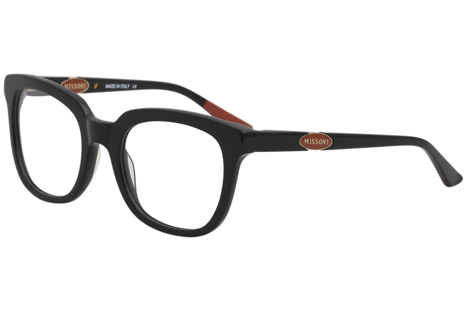 Image of Missoni Women's Eyeglasses MI308V MI/308/V Full Rim Optical Frame - Black - Lens 53 Bridge 21 Temple 135mm