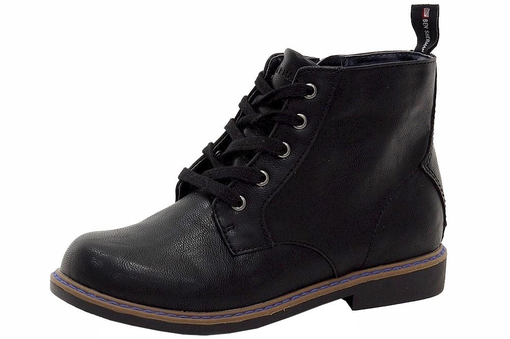 Image of Ben Sherman Boy's Buckingham Fashion Ankle Boots Shoes - Black - 1.5 M US Little Kid