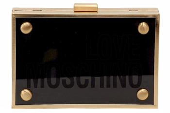 Love Moschino Women's Plexiglass Crossbody Clutch Handbag  UPC: