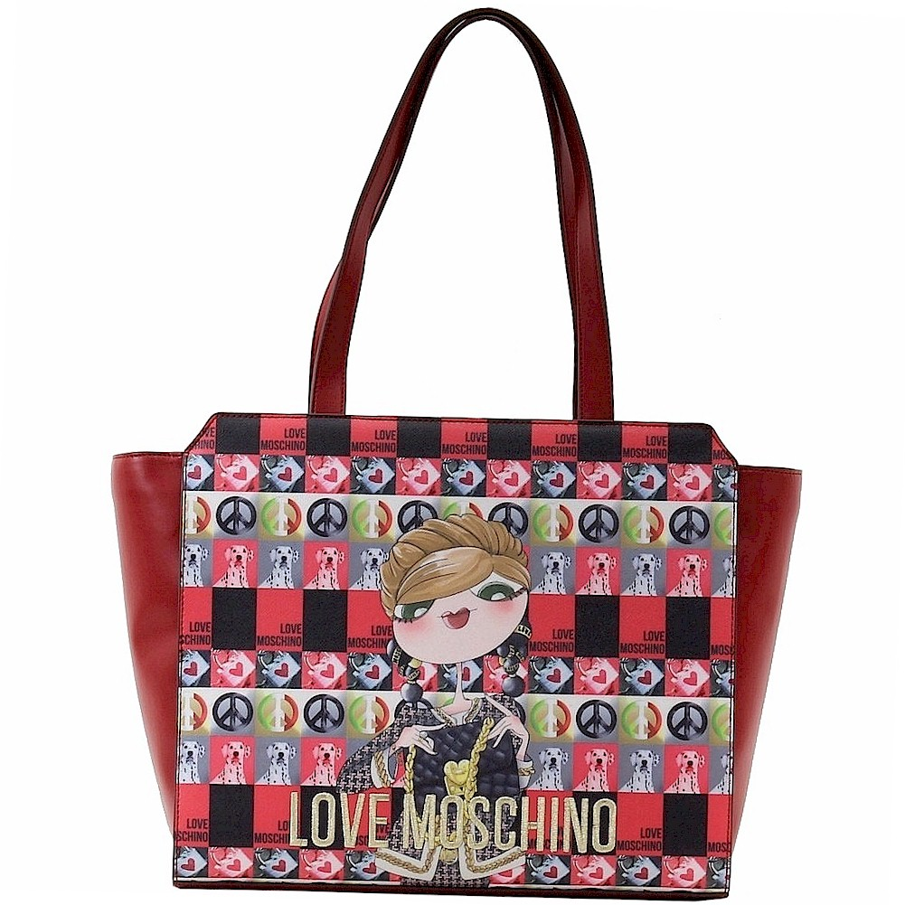 Love Moschino Women s Digital Print Double Handle Tote Handbag Digital Print Tote; JC4313PP02KR0