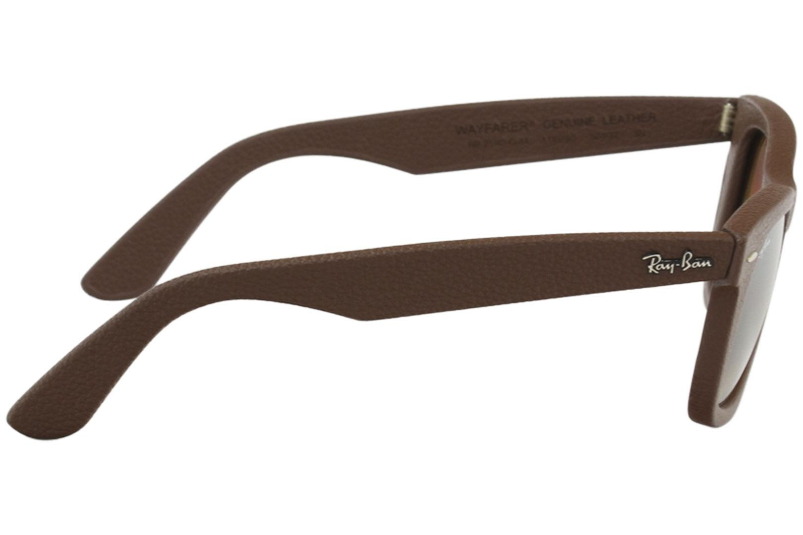 498387bfa5 Ray Ban 2140QM 2140 QM RayBan Wayfarer Leather Sunglasses