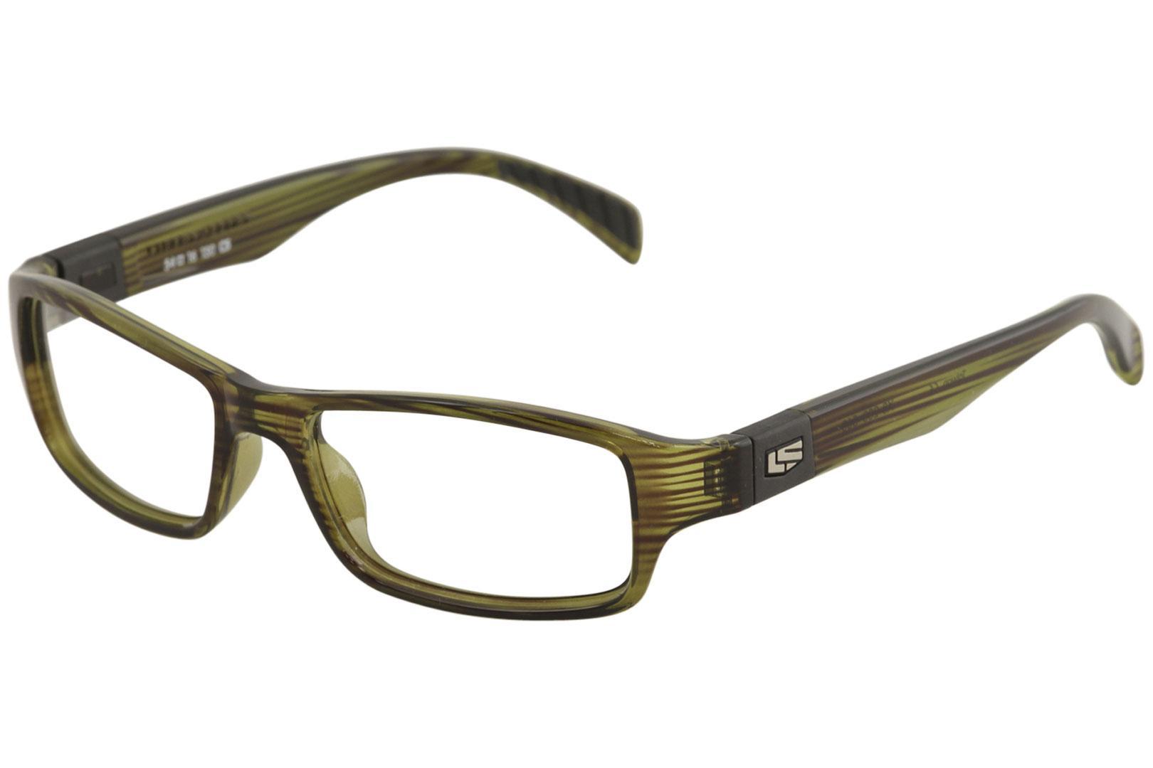 Image of Liberty Sport Men's Eyeglasses X8 200 Full Rim Optical Frame - Transparent Olive/Black Stripe   560 - Lens 54 Bridge 16 Temple 130mm