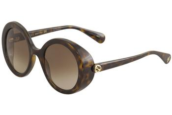 Gucci Women's GG0367S GG/0367/S Fashion Round Sunglasses