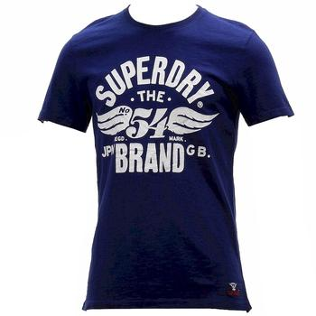 Superdry Men's 54 Brand Cold Dye Crew Neck Graphic Cotton Short Sleeve T-Shirt UPC: