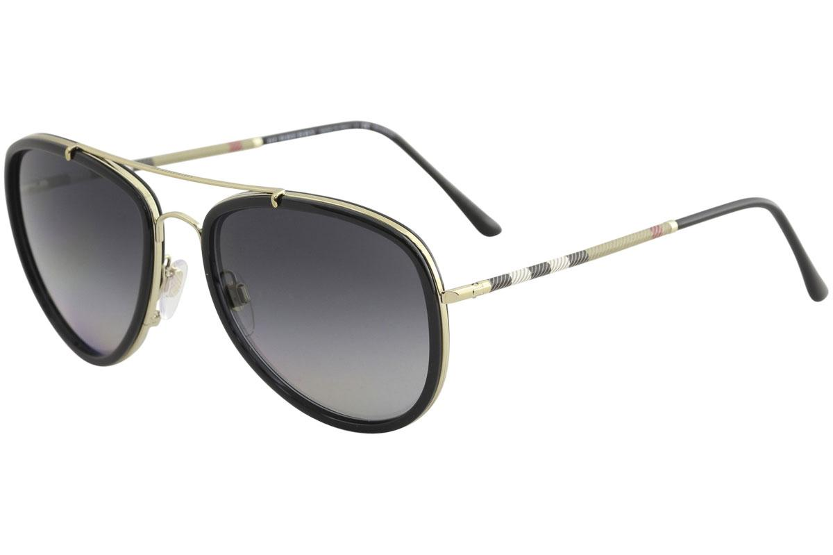 ffa8c87c72d Burberry Women s BE3090Q BE 3090 Q Pilot Sunglasses