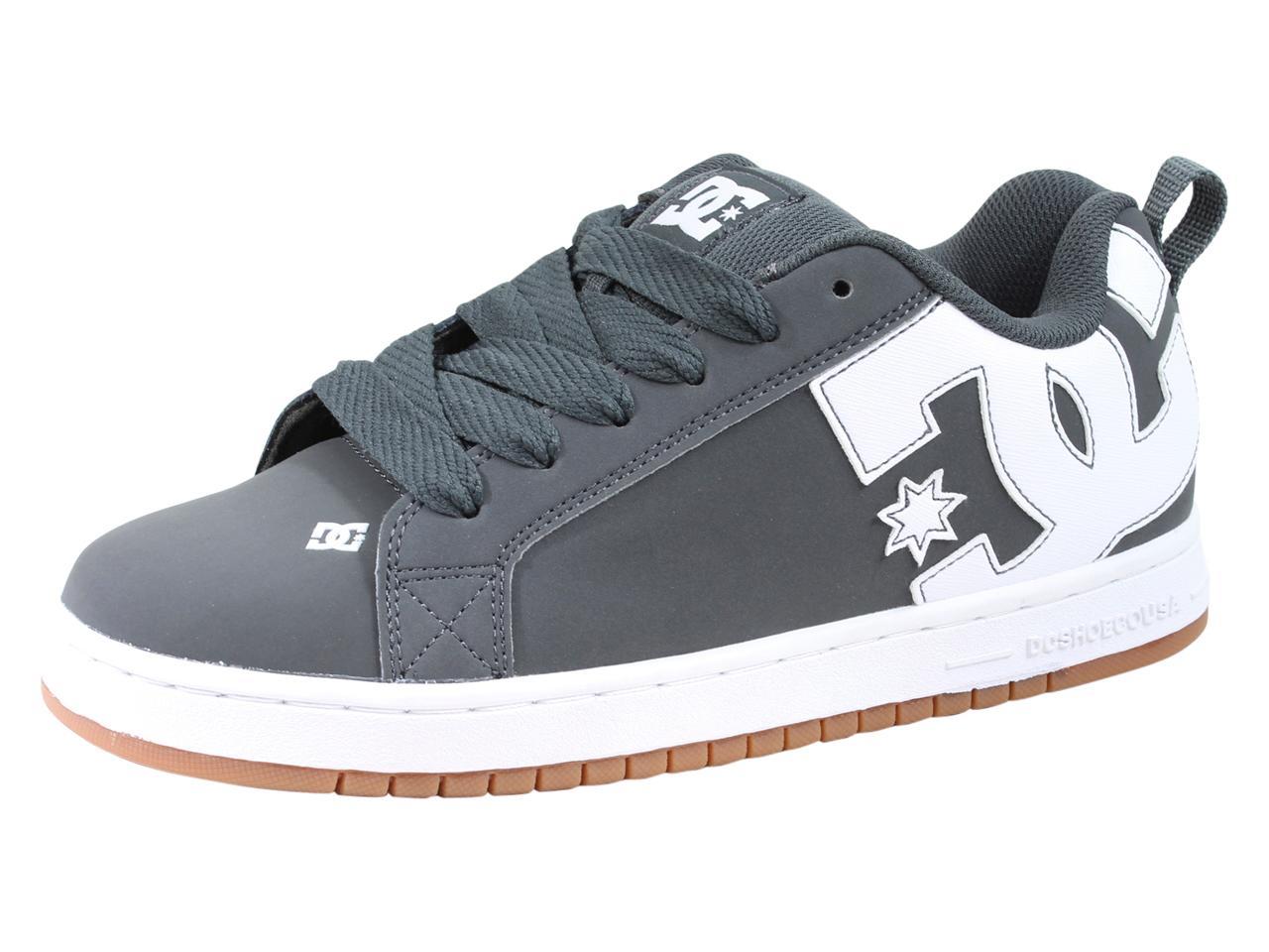 Image of DC Men's Court Graffik Skateboarding Sneakers Shoes - Grey - 9 D(M) US