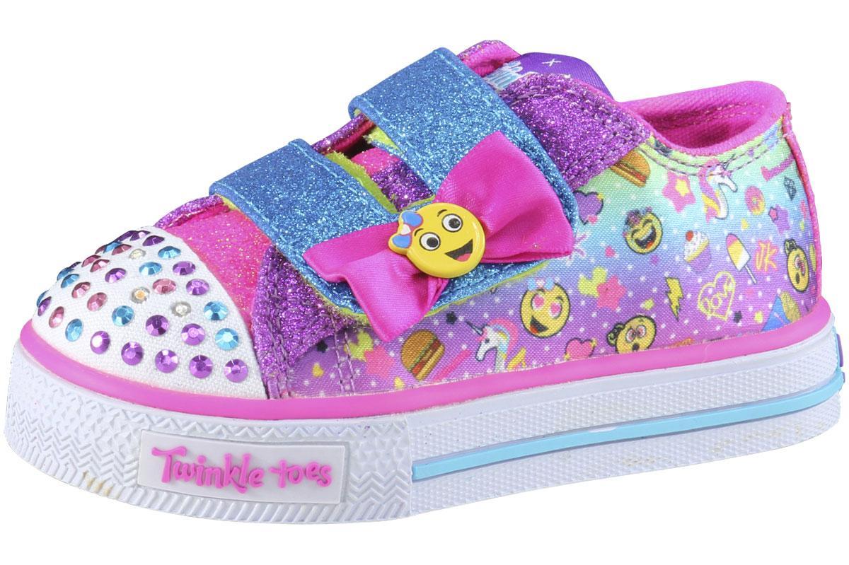 Emoji Print Skechers ToddlerLittle Girl's Twinkle Toes Emoji Light Up Sneakers