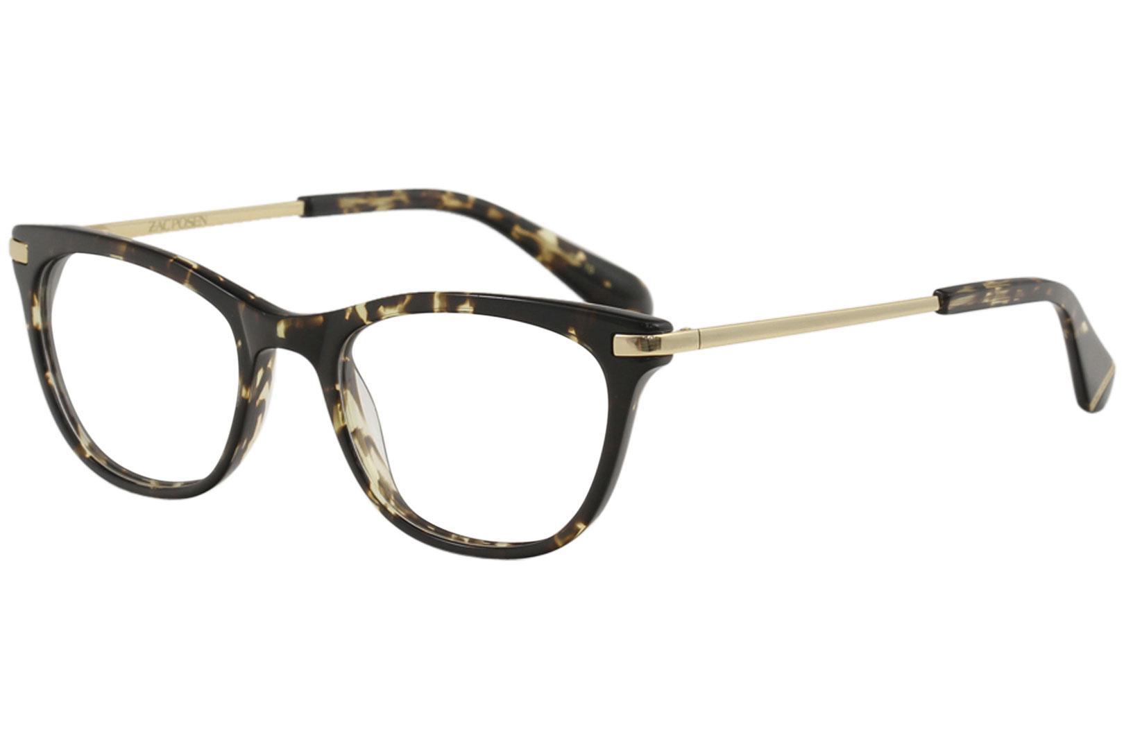 Image of Zac Posen Women's Eyeglasses Gladys Full Rim Optical Frame - Black - Lens 49 Bridge 19 Temple 140mm