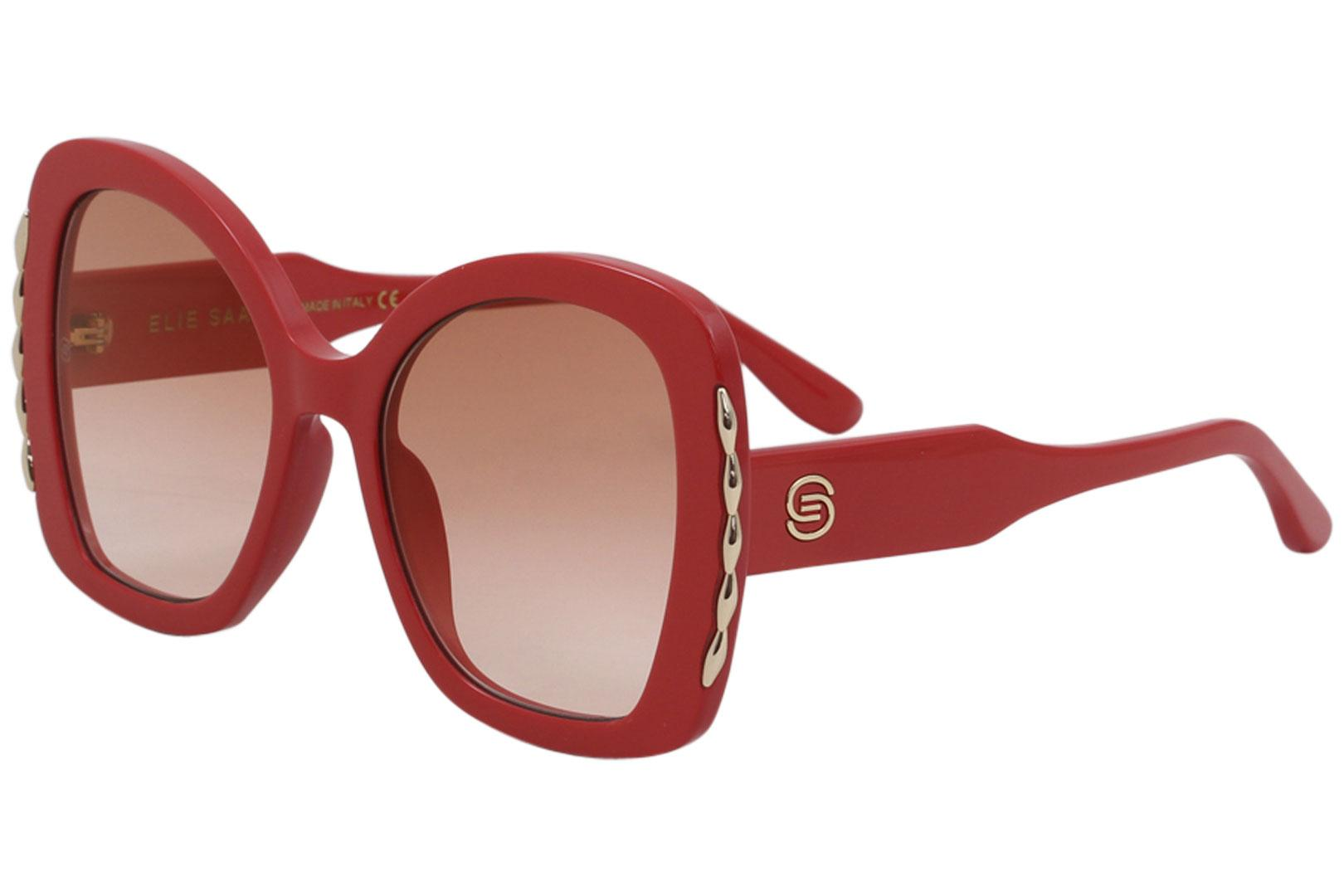 Elie Saab Women's ES030S ES/030/S C9A/30 Red Fashion Butterfly Sunglasses 56mm
