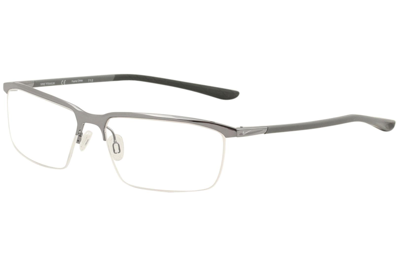bb356ef986e Nike Men s Eyeglasses 6071 Half Rim Titanium Optical Frame