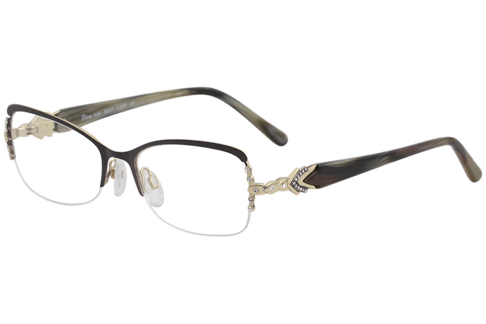 Diva Women\'s Eyeglasses 5450 Half Rim Optical Frame