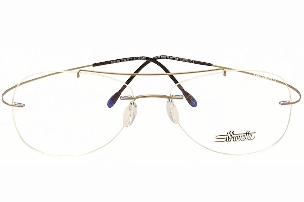0c441ba5703 Silhouette Eyeglasses Titan Minimal Art Pulse Chassis 5490 Rimless Optical  Frame by Silhouette
