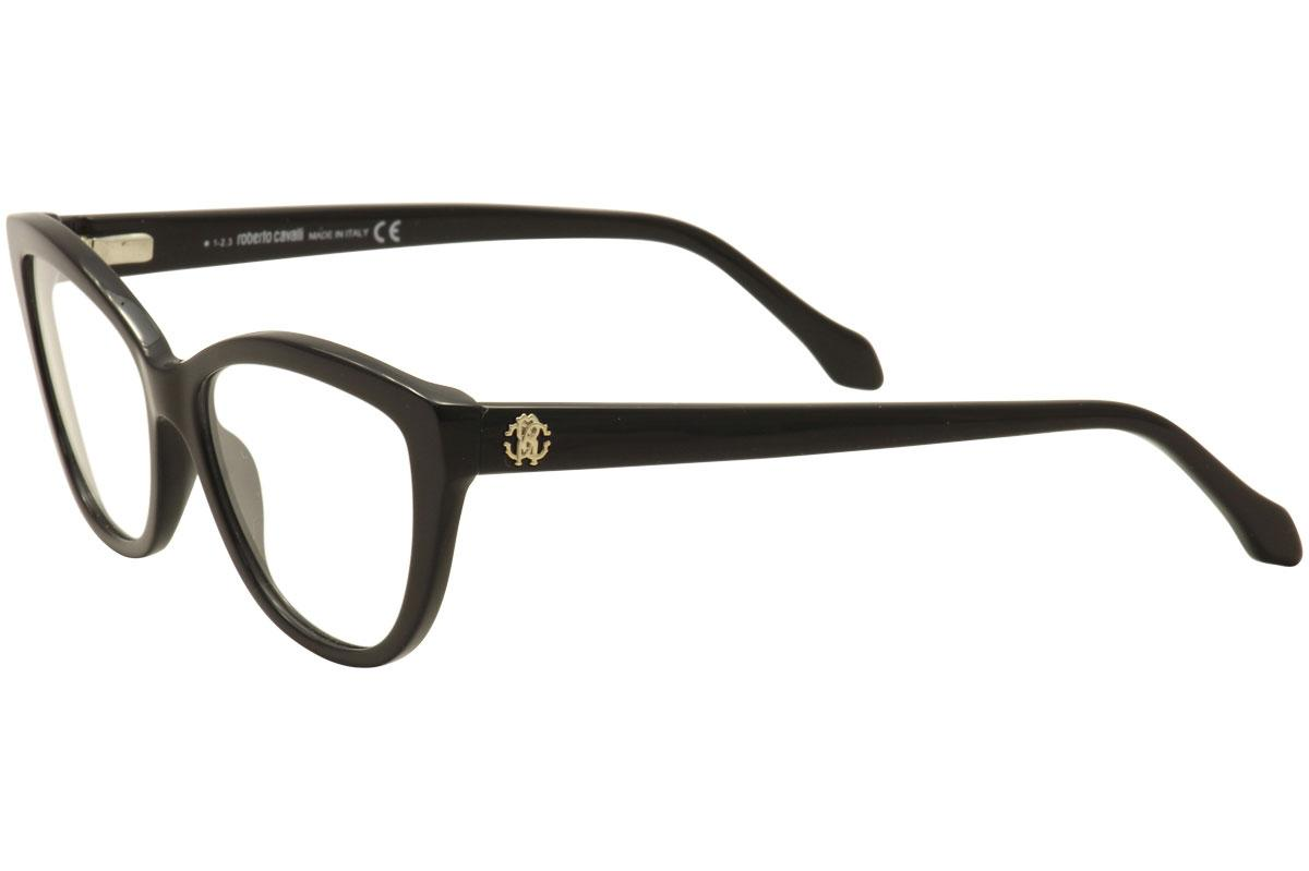 Roberto Cavalli Women\'s Eyeglasses Algieba 808 Cat Eye Full Rim ...