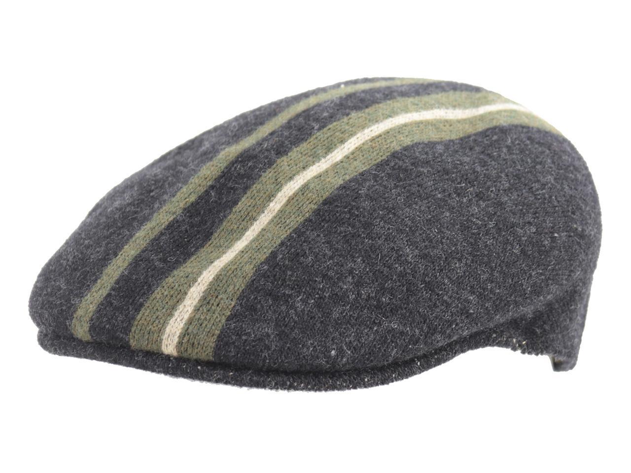 1a03dcda Kangol Men's Identity Stripe 504 Flat Cap Hat by Kangol. 12345