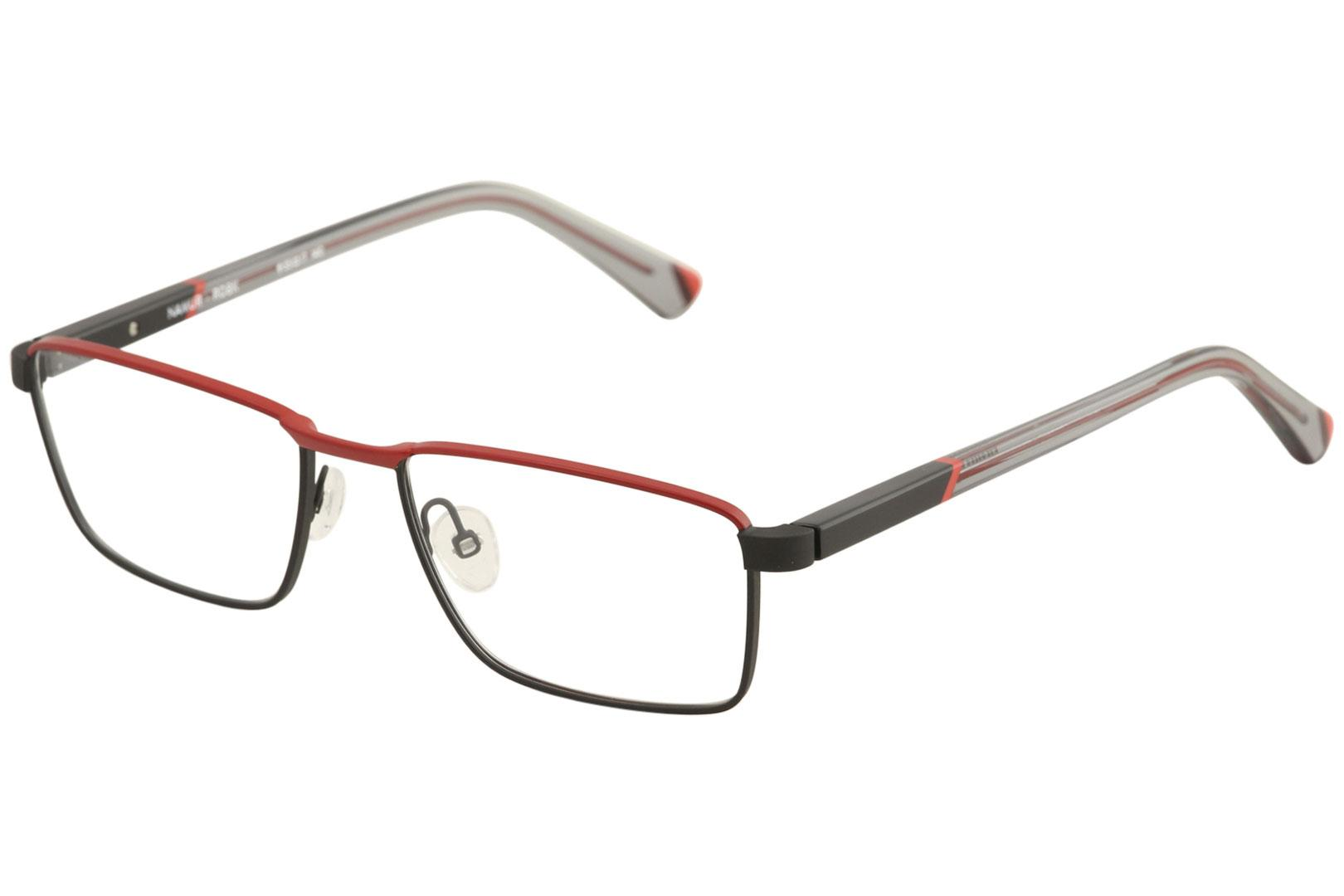 Image of Etnia Barcelona Men's Eyeglasses Namur Full Rim Optical Frame - Red/Black   RDBK - Lens 55 Bridge 17 Temple 140mm