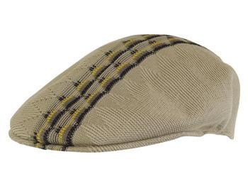8426195287e52 Kangol Men s Argyle Stripe 504 Flat Cap Hat by Kangol