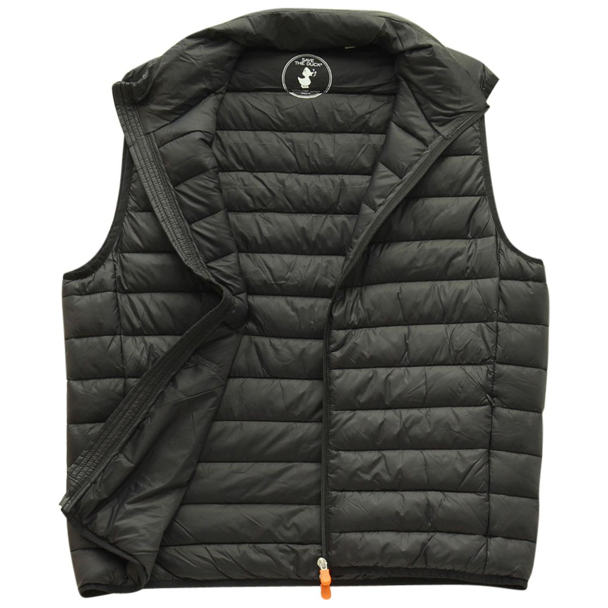 Image of Save The Duck Men's Quilted Winter Vest - Black - XX Large
