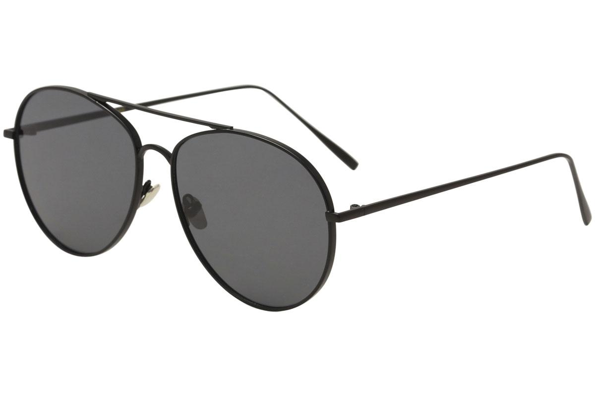 Image of Yaaas! 6669 Fashion Pilot Sunglasses - Black/Black   C - Lens 58 Bridge 17 Temple 147mm
