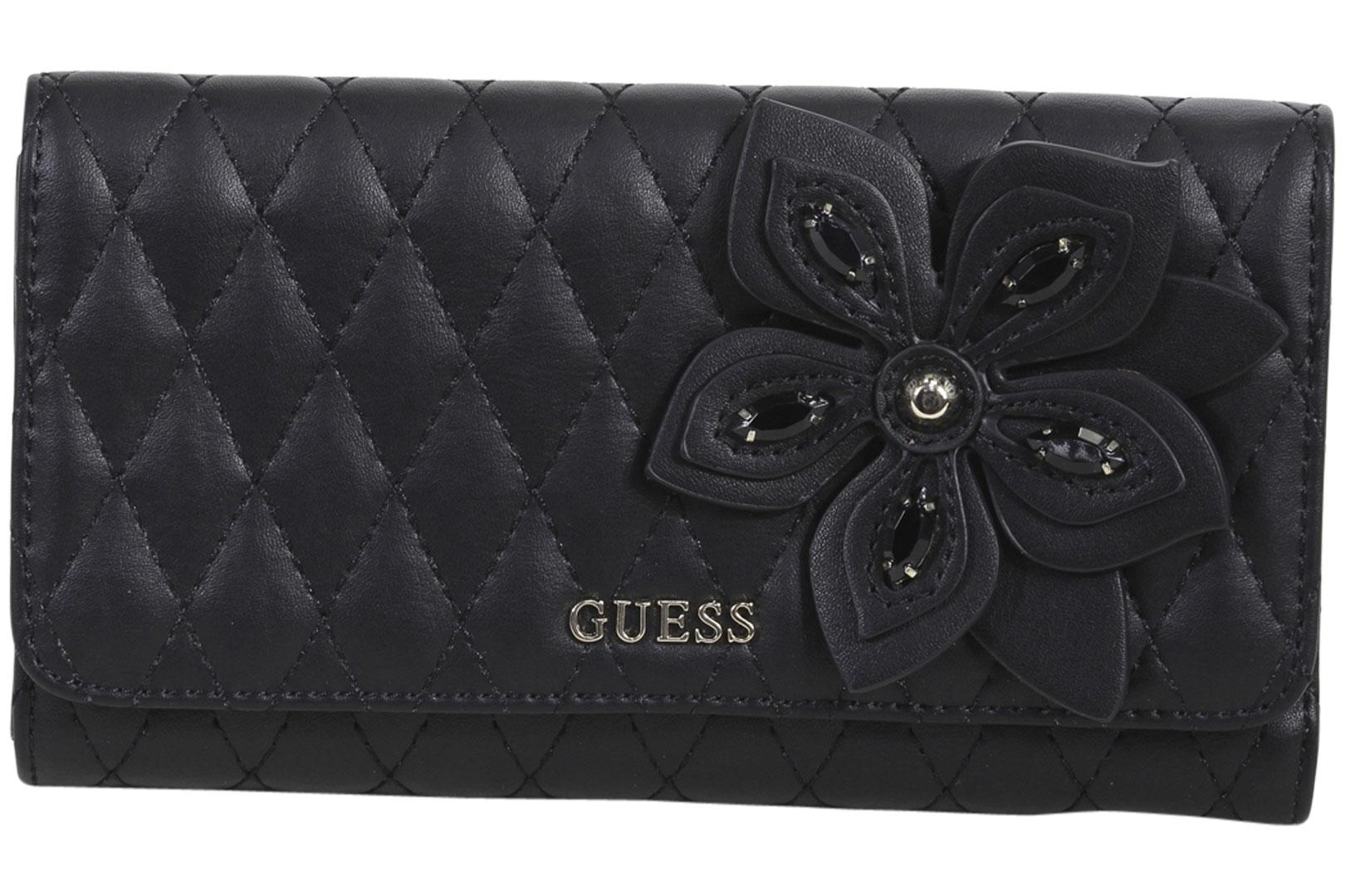 Guess Women's Sibyl Quilted Flower Clutch Wallet