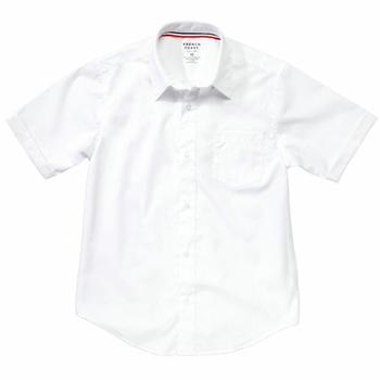 French Toast Toddler Boy's Short Sleeve Poplin Uniform Button Up Shirt