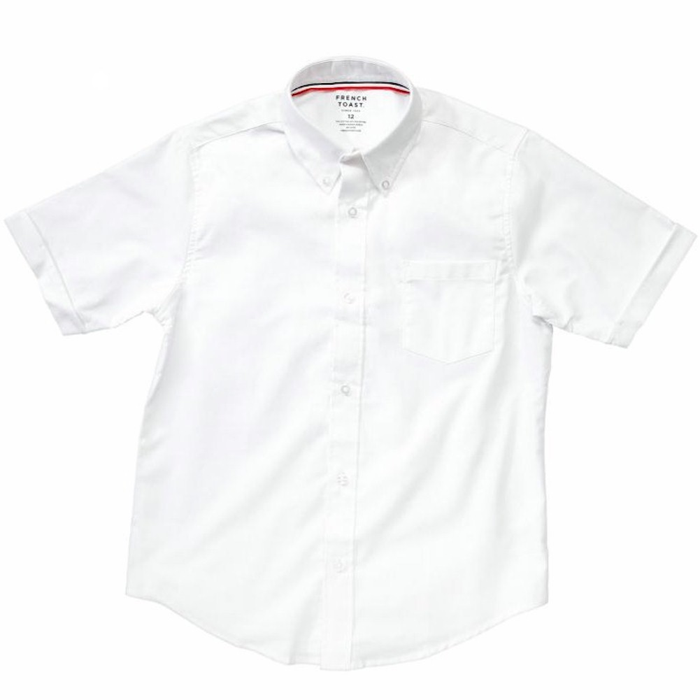 French Toast Toddler Boy s Short Sleeve Oxford Uniform Button Up Shirt