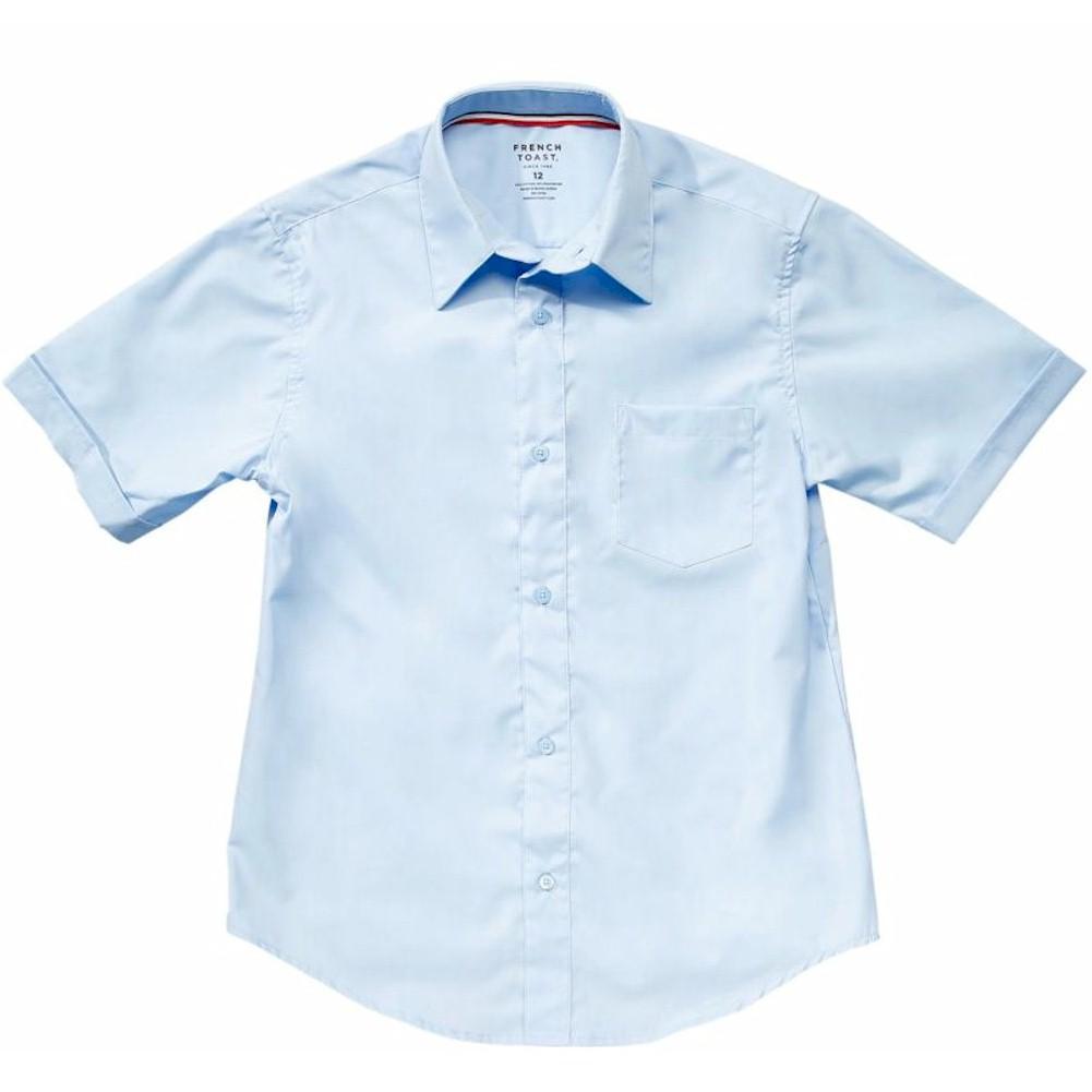 French Toast Toddler Boy s Short Sleeve Poplin Uniform Button Up Shirt