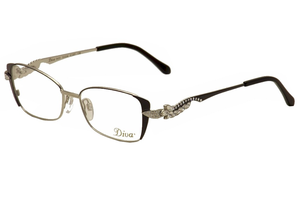 Image of Diva Women's Eyeglasses 5433 Full Rim Optical Frame - Black - Lens 51 Bridge 16 Temple 130mm