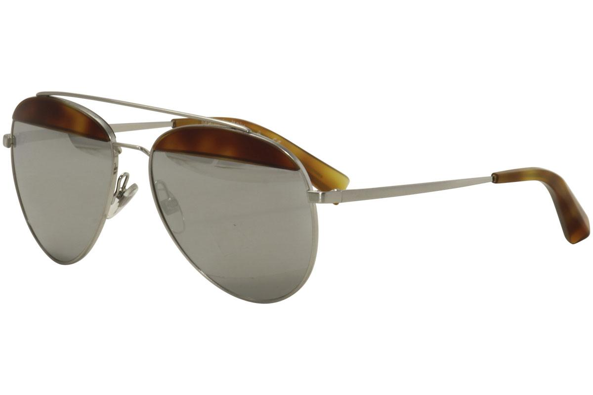 Image of Alain Mikli by Oliver Peoples Women's PAON A04004 A0/4004 Sunglasses - Silver - Lens 58 Bridge 16 Temple 135mm