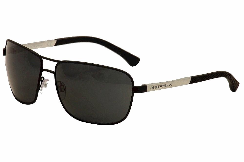 Image of Emporio Armani Men's EA 2033S 2033/S Sunglasses - Black - Lens 64 Bridge 15 Temple 130mm