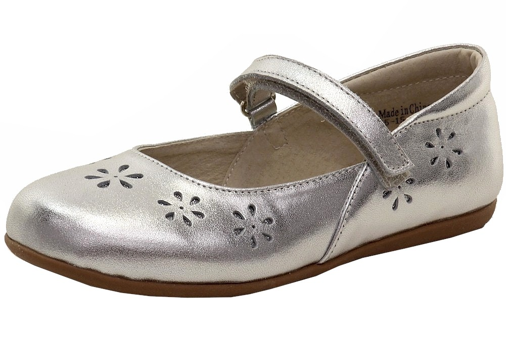 Image of See Kai Run Girl's Ginger II Fashion Mary Janes Shoes - Silver - 1 M US Little Kid