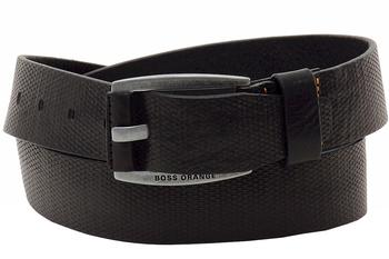 Hugo Boss Men's Jakaba_Sz40_Item Genuine Diamond Texture Leather Belt