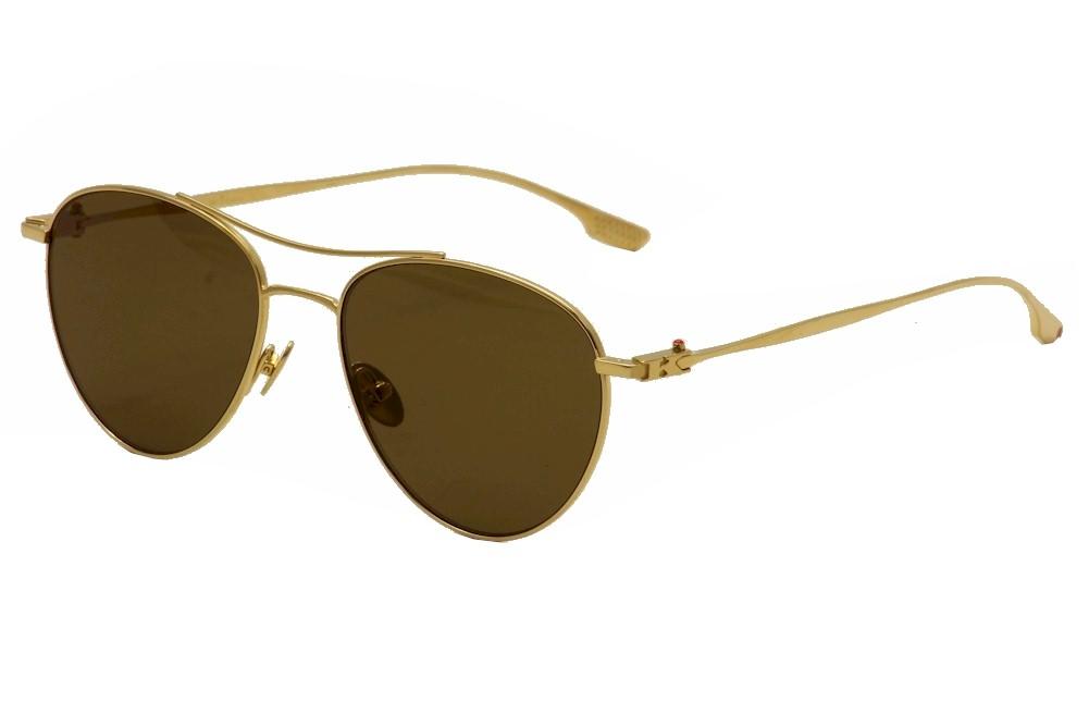 Image of Kiton Women's KT 505S 505/S Titanium Fashion Pilot Sunglasses - Gold - Lens 54 Bridge 17 Temple 140mm