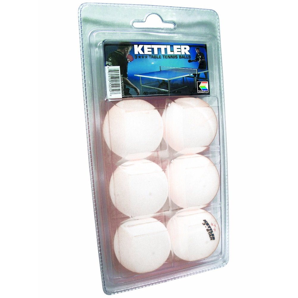 Image of Kettler 3 Star 7223 6 Pack 40mm Table Tennis Balls - none