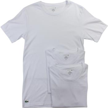 Lacoste Men's 3-Pc Essentials Cotton Crew Neck Short Sleeve T-Shirt
