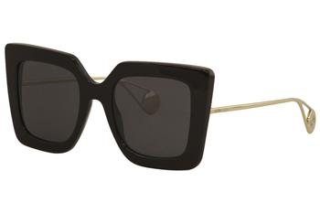 Gucci Women's GG0435S GG/0435/S Fashion Square Sunglasses