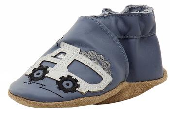 Robeez Mini Shoez Infant Boy's Little Dump Truck Fashion Leather Slip-On Shoes