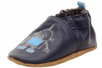 Robeez Mini Shoez Infant Boy's Robotics Fashion Leather Slip-On Shoes