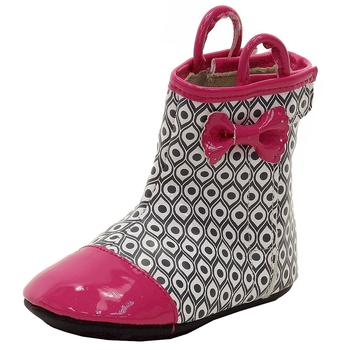Robeez Mini Shoez Infant Girl's Happy Hopper Rainboots Shoes UPC: