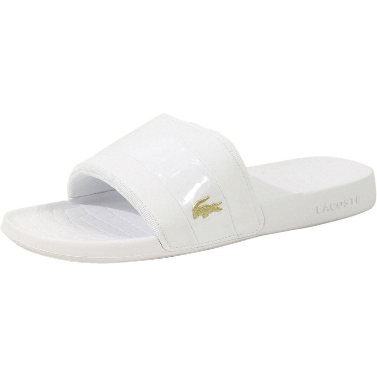 8df78dabde23 Lacoste Men s Fraisier-118 Logo Slides Sandals Shoes