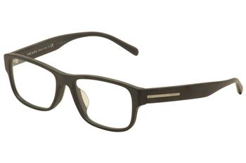 Prada Men's Eyeglasses VPR 23RF 23R-F Full Rim Optical Frame (Asian Fit)