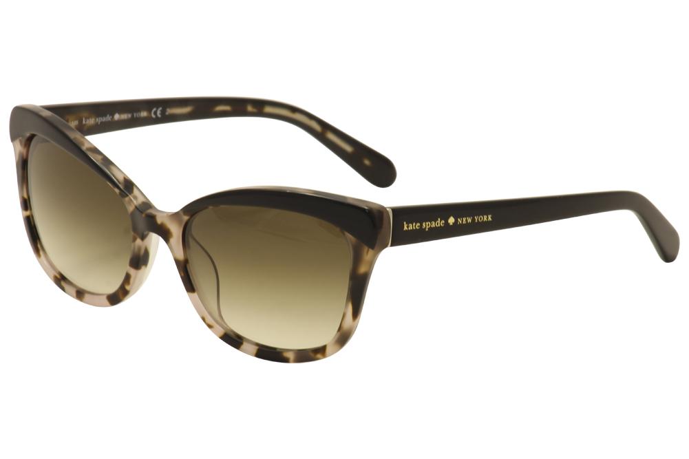 Image of Kate Spade Women's Amara/S Fashion Sunglasses - Blush Tortoise/Silver/Brown Gradient   JAZ/Y6 - Lens 55 Bridge 18 Temple 135mm
