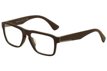 Prada Men's Eyeglasses VPR 04SF 04S-F Full Rim Optical Frame (Asian Fit)