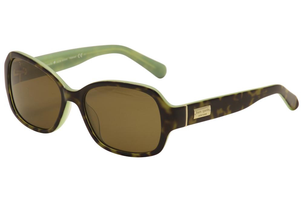 Image of Kate Spade Women's Akira/P/S Fashion Sunglasses - Tortoise Mint/Gold/Brown Polarized   JBLP/VW - Lens 54 Bridge 17 Temple 130mm