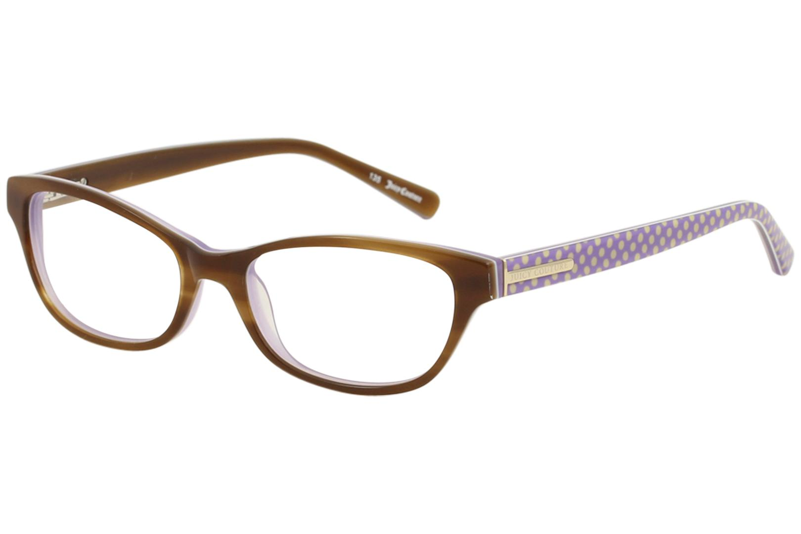Image of Juicy Couture Women's Eyeglasses JU118 JU/118 Full Rim Optical Frame - Blonde Lavender   0ERL - Lens 51 Bridge 16 Temple 135mm