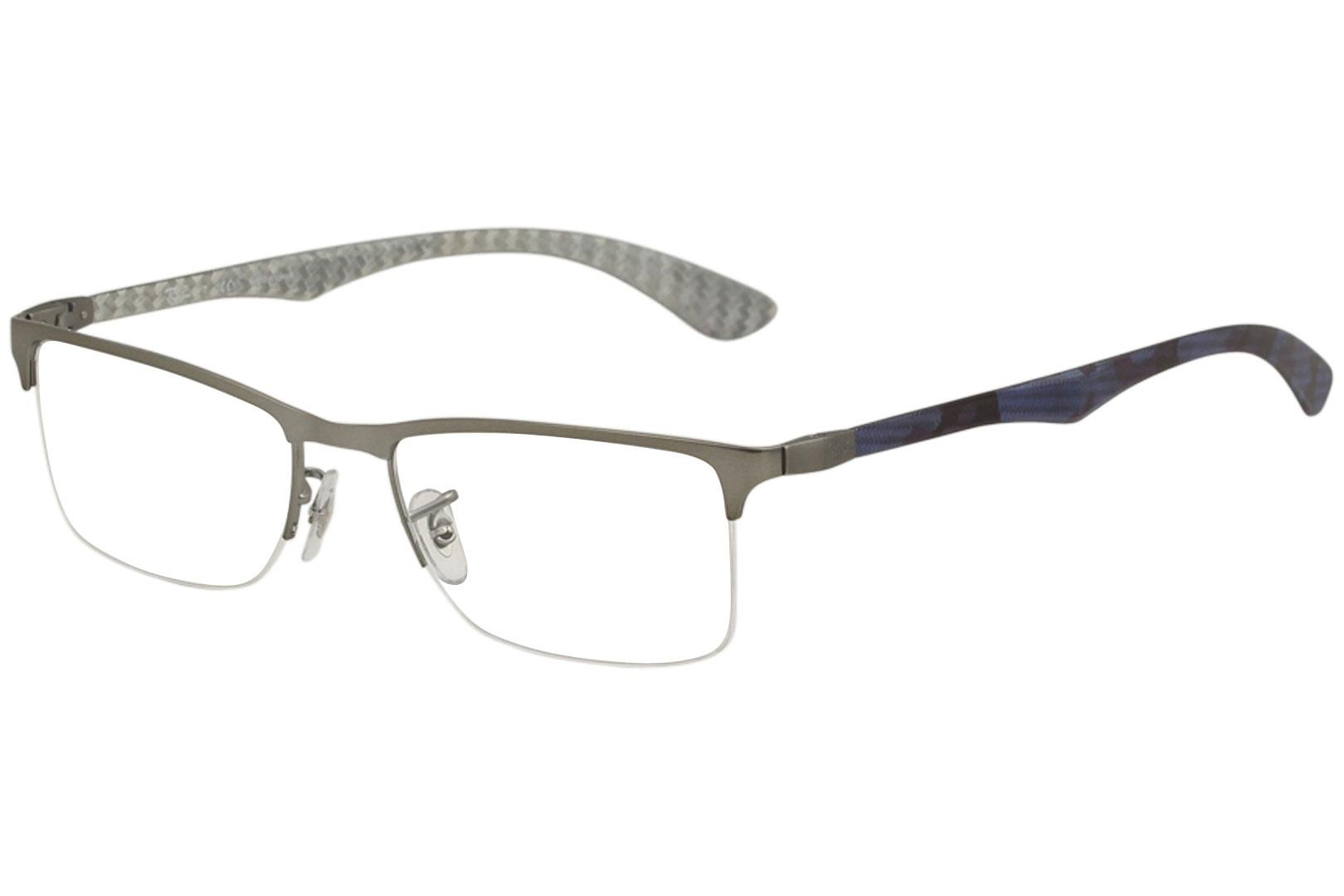 Ray-Ban Men\'s Eyeglasses RX8413 RX/8413 RayBan Half Rim Optical Frame
