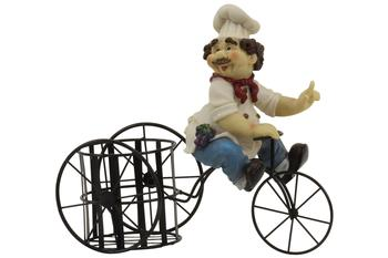 Bistro Chef On A Bicycle Wine Bottle Holder