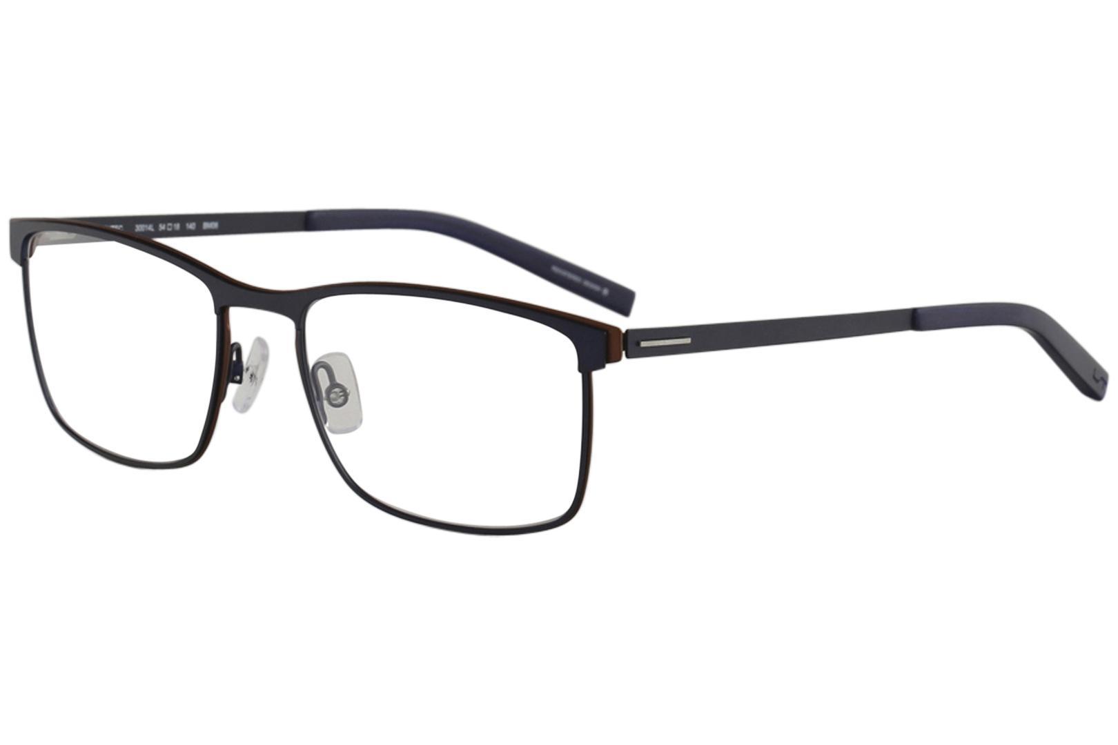 Image of Morel Men's Eyeglasses Lightec 30014L 30014/L Full Rim Optical Frame - Blue   BM06 - Lens 54 Bridge 18 Temple 140mm