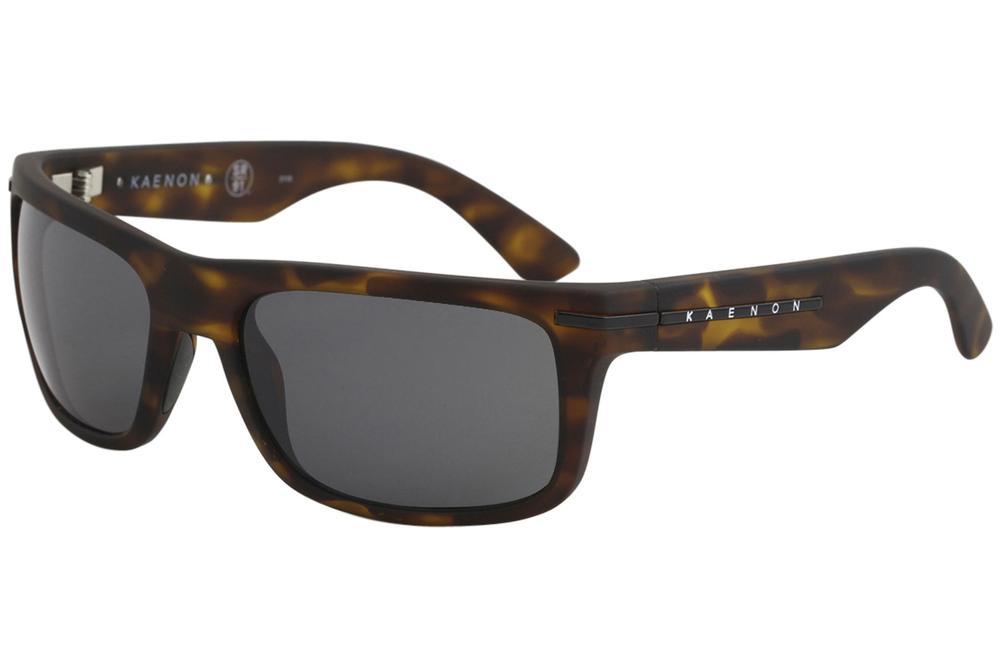 Image of Kaenon Burnet or Burnet Mid Polarized Fashion Sunglasses - Burnet   Matte Tort Grip Black/Pol Grey   G12 - Lens 60 Bridge 18 B 39 Temple 130mm