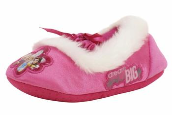 Disney Princess Toddler/Little Girl's Pink Fashion Fleece Slippers Shoes